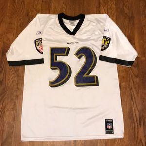 Men's Large NFL Reebok Baltimore Ravens Jersey